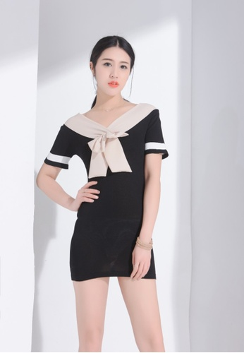 Zafiti black Two Way Bow Dress 5C47AAA917F6AAGS_1