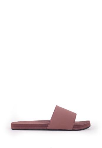 Indosole brown Indosole Women's ESSNTLS Slides - Soil 1E714SHA7F447FGS_1