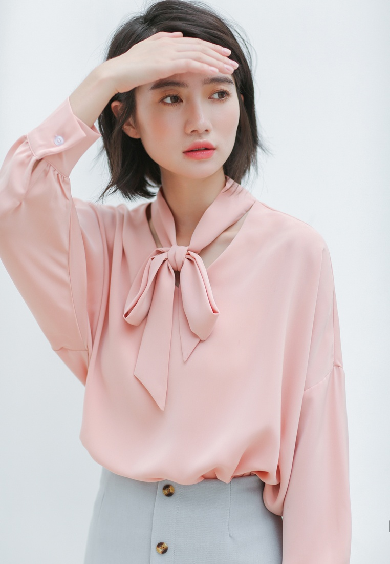 Loose Sleeve Blouse Fit Pink Bat Shopsfashion E4nqU4