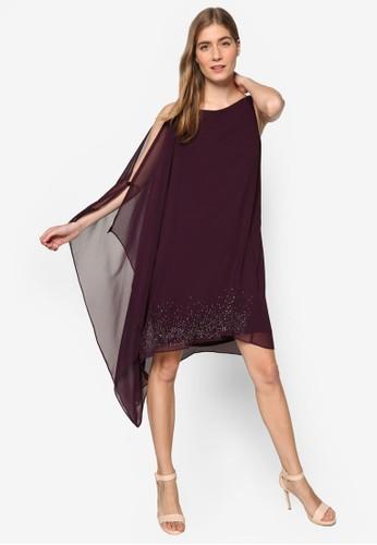 亮飾點綴薄esprit台灣紗無袖連身裙, 服飾, 服飾