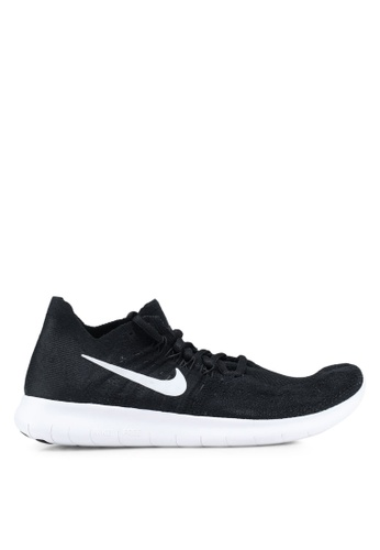 Nike black and white Women's Nike Free RN Flyknit 2017 Running Shoes FF144SHAA09C42GS_1