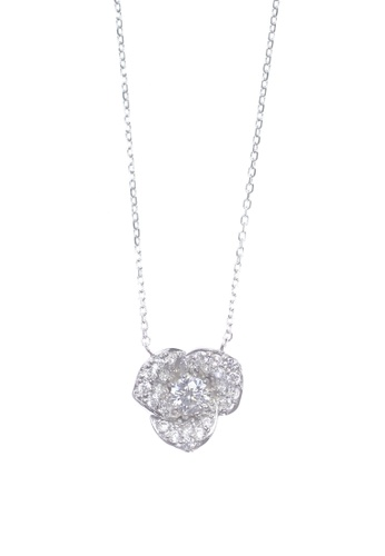 The LoveMark silver Grandiose Flower Silver Earrings and Necklace TH516AC69AHIPH_1