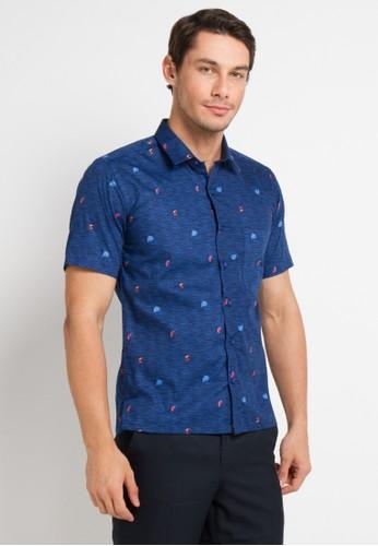 Gianni Visentin blue Slim Fit Shirt 76AE7AA2C0C015GS_1