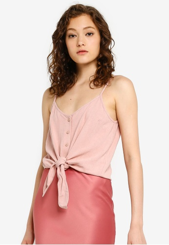 94ba969631c Buy TOPSHOP Tie Front Cami With Linen Online on ZALORA Singapore