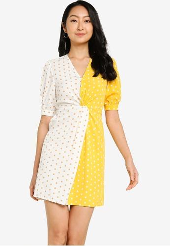 ZALORA BASICS multi Colourblock Twist Front Dress 5242DAA420686BGS_1