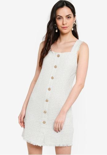 ZALORA WORK multi Square Neck Tweed Dress 49ABCAADF48385GS_1
