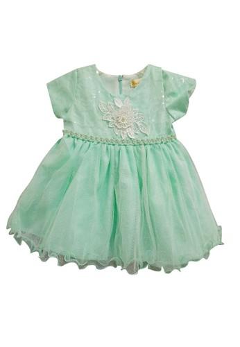 Princessa Flami green Dress Baby Mint 1782 203D6KACDFCBADGS_1