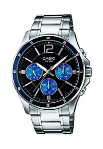 Casio silver Casio Men's Analog MTP-1374D-2AVDF Stainless Steel Band Casual Watch CA8EAACCE1D835GS_1