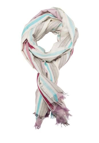 流蘇zalora 心得印花針織圍巾, 飾品配件, 飾品配件