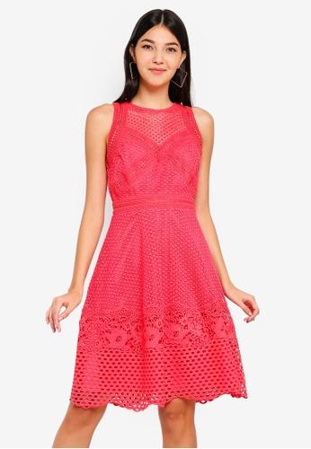 Little Mistress blue Crochet Dress 450DDAA185CFE2GS_1