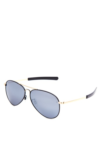 Shop Levi\'s Full Rim Metal Frame Aviator Sunglasses [ LV91089C13P58 ...