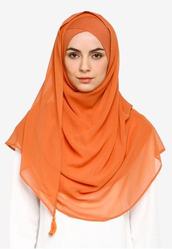 Bokitta orange Papaya Instant Hijab 83221AA147904FGS_1