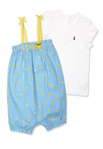 Organic mom white and blue Organic Cotton Little Rod Outfit 2D5E9KA6679A13GS_1