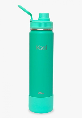 Kool PH turquoise 25 oz Insulated Stainless Steel Water Bottle With Silicone Boot 1A89DAC19727EFGS_1