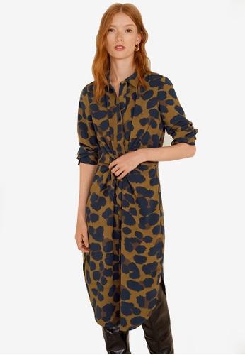 Mango brown Bow Shirt Dress A3AB5AADB5E05EGS_1