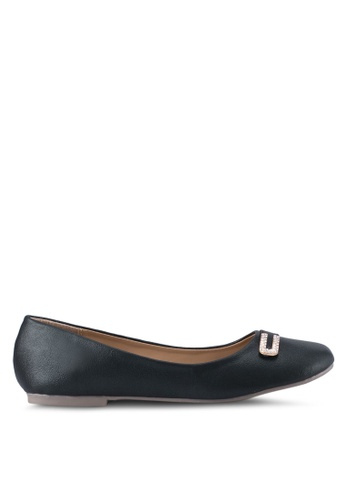 Spiffy black Casual Wear Flats SP352SH0SRXRMY_1