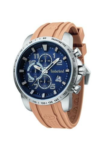 Timberland brown Timberland Holbrook Khaki  48 mm Men's Watches (TBL.15330JS/03P) D16AAAC770B93EGS_1