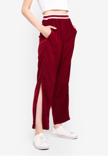 Something Borrowed red Stripe Rib Track Pants 7030BAA8C2AD59GS_1