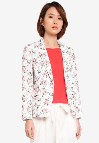 Dorothy Perkins multi Petite Ditsy Floral Blazer 5EE4DAAA453ADAGS_1