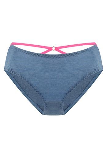 LAVABRA Intimates blue Very Sexy Panty - Cadence Comfy Modal Trendy Bands Bikini Panty LA387US67SLKID_1