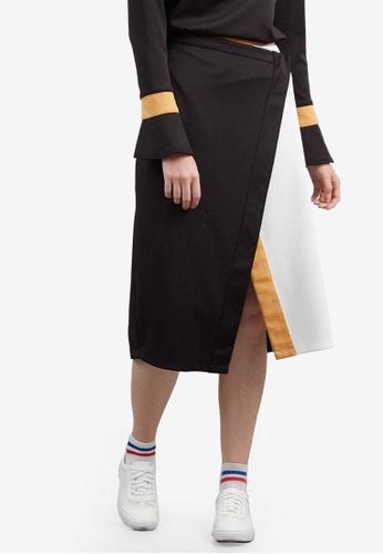 Berrybenka black and multi Feloma Skirt AAF8DAAFE1D320GS_1