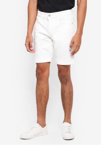 Calvin Klein white A-Slim SHR-G W CMF Woven Shorts F143BAA8D5BF7DGS_1