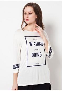 harga VREYA Off White Tshirt Zalora.co.id