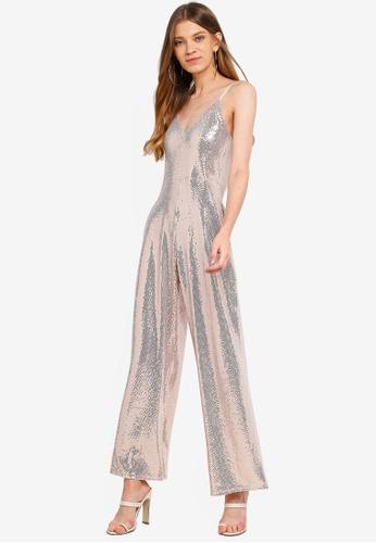 Women's Clothing Miss Selfridge Sequin Jumpsuit Size 12 Comfortable Feel