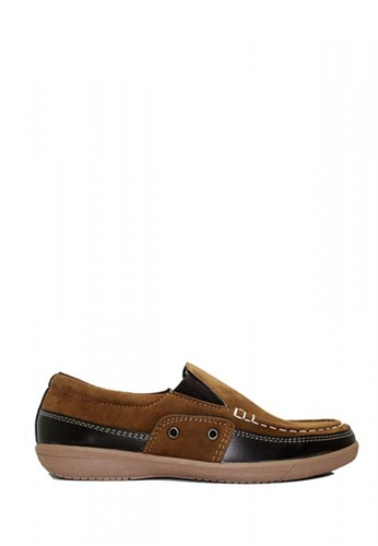 D-Island brown D-Island Shoes Zappato Comfort Loafers Suede Brown DI594SH73AJYID_1