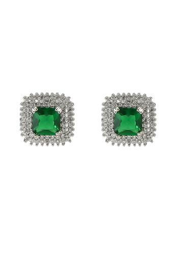 ALDO green Jarrahwood Pierced Earrings DD044AC6A6DAB5GS_1