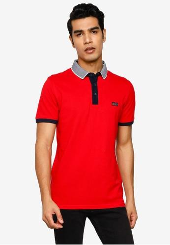 Jack & Jones red Charming Short Sleeves Polo Shirt A8FEBAA8386087GS_1
