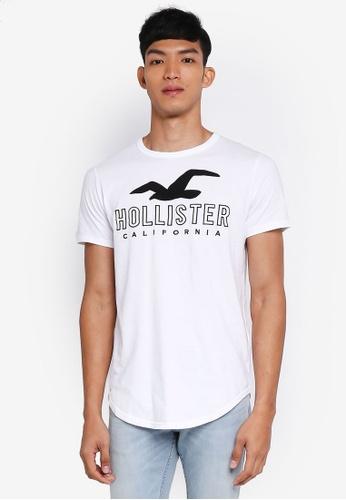 Hollister white Brand Logo T-Shirt C5F2AAA82F2503GS_1