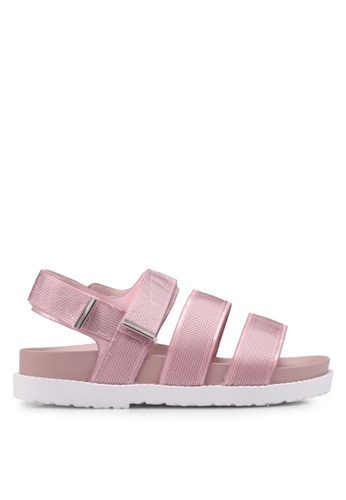 Rubi pink Bronte Webbing Sporty Sandals 7D321SH6500D98GS_1