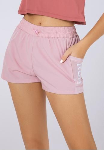 Trendyshop pink High-Elastic Fitness Shorts 9FDD9US0228E57GS_1