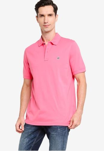 Tommy Hilfiger 粉紅色 Gothic Badge Polo Shirt 33B3DAA3B8CE85GS_1