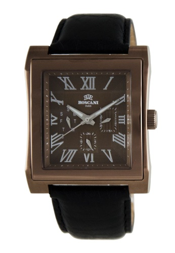Roscani brown Roscani Davis M 913M (Multifunction + WR 5ATM) Brown Leather Men Watch F732CACB0AF2D6GS_1