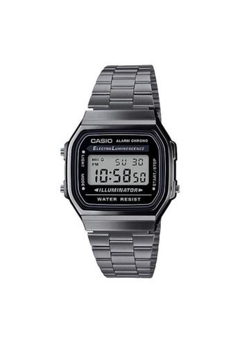 CASIO grey CASIO GENERAL A168WGG-1ADF UNISEX'S WATCH 2E2B2AC4C1D73AGS_1