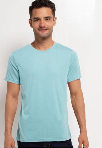 Tolliver green V Neck Basic Short Sleeve Tee 267E0AA2163ED1GS_1