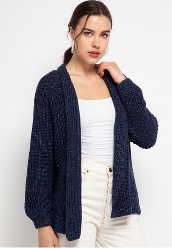 Peponi navy Oversize Cardigan C3D8AAA30EB790GS_1