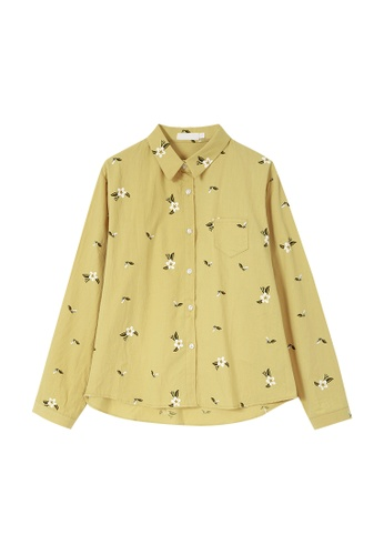 Its Me yellow Fashion Loose Print Shirt 25889AA30B1F9DGS_1