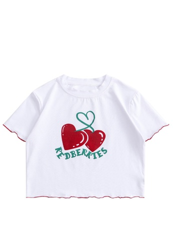 Twenty Eight Shoes Slim Printed Short Sleeve T-shirt HH0061 E9A88AA542D7F2GS_1