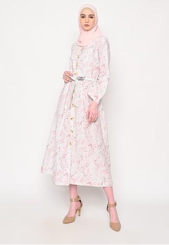 VIP Couture white and pink VIP Couture Raisa Dress 80486AA7123701GS_1