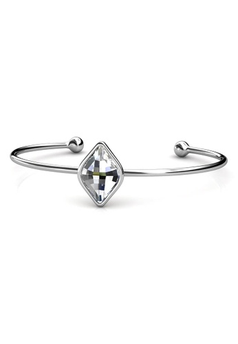 Her Jewellery silver Rohmbus Bangle A21A8ACC4B9357GS_1