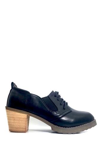 Twenty Eight Shoes black Oxford Deep Collar Heel Shoes VL8281 402E7SH8447761GS_1