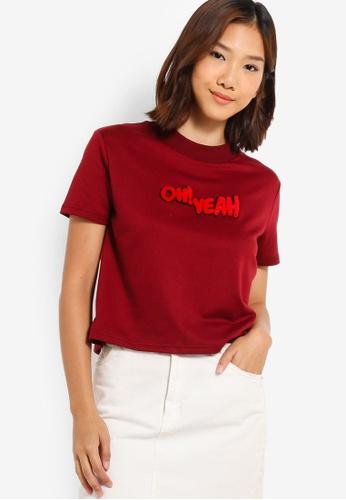 Something Borrowed 紅色 短袖毛衣上衣 F0437AA4FF6339GS_1