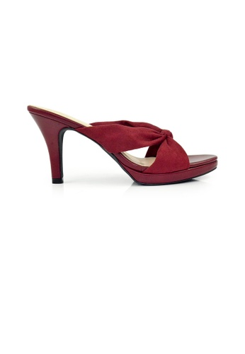 SHINE red SHINE Slip On knot front plantform heels 2217ESH9CB4D84GS_1