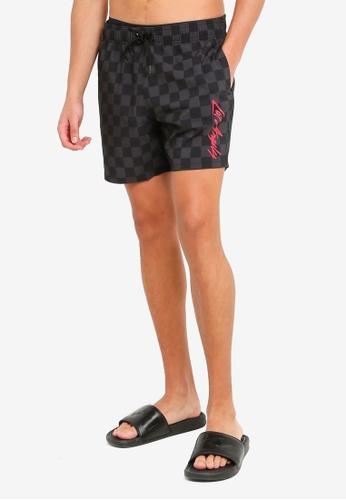 Hollister black Webex Trend Drop Shorts 3E28EAA88BFF10GS_1
