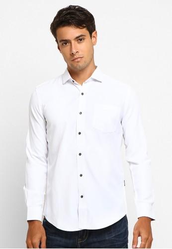 Arnett white Arnett Baju Pria Kemeja Lengan Panjang Polos White 1561AAA7385C6DGS_1