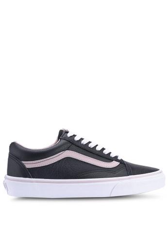 VANS black Old Skool Leather Sneakers 3EF53SHBA5CF3CGS_1