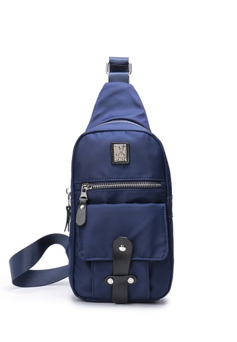 DUSTY blue Eng Chest Bag 7F584AC45311BAGS_1